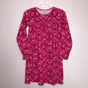 Hanna Andersson Pink Floral Long Sleeve Dress